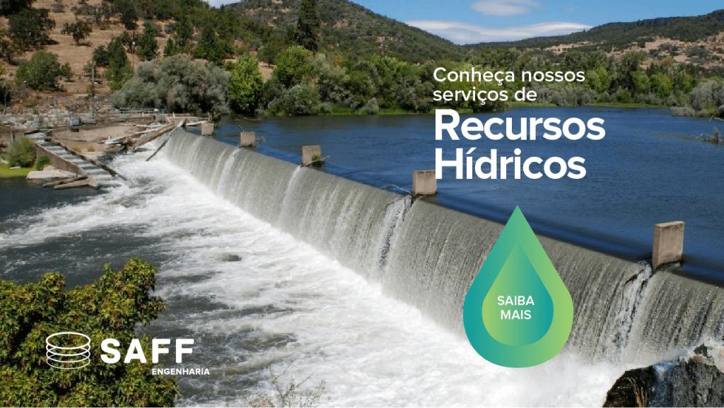 Banner de recursos hídricos que direciona o leitor ao site da Saff Engenharia