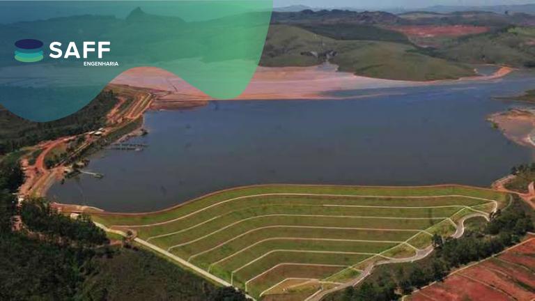 fotografia aerea de uma barragem de rejeito usada para exemplificar o que se diz numa matéria de DECs