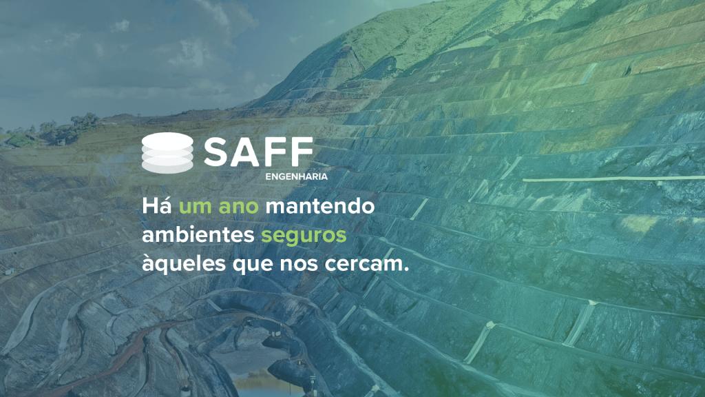 Design em comemoração ao primeiro aniversário da SAFF Engenharia