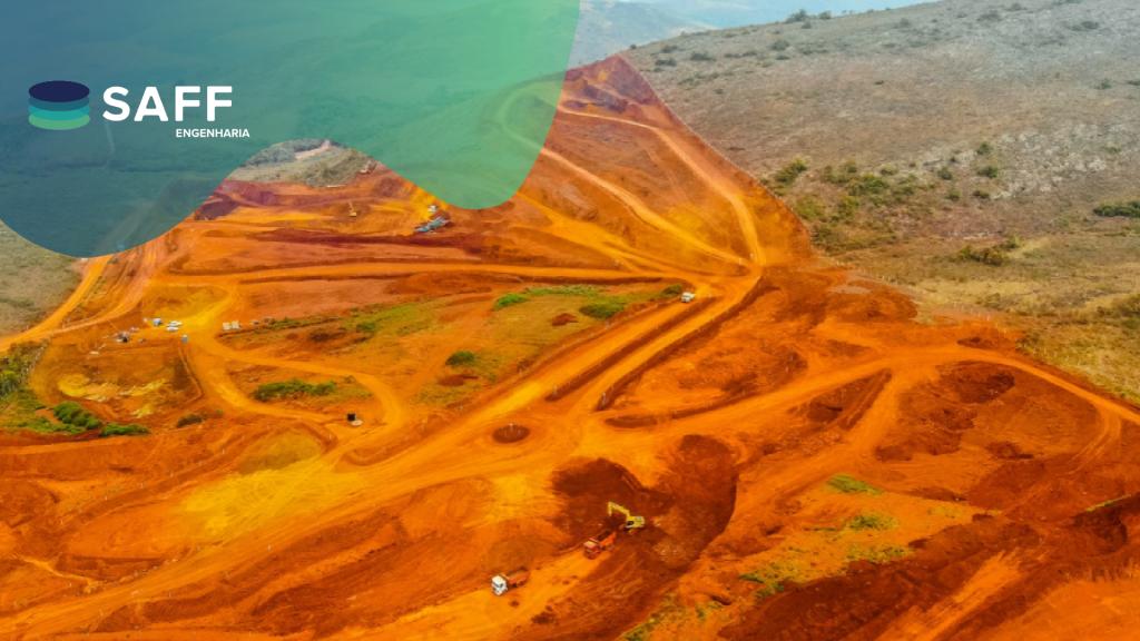 Fotografia de uma área minerada