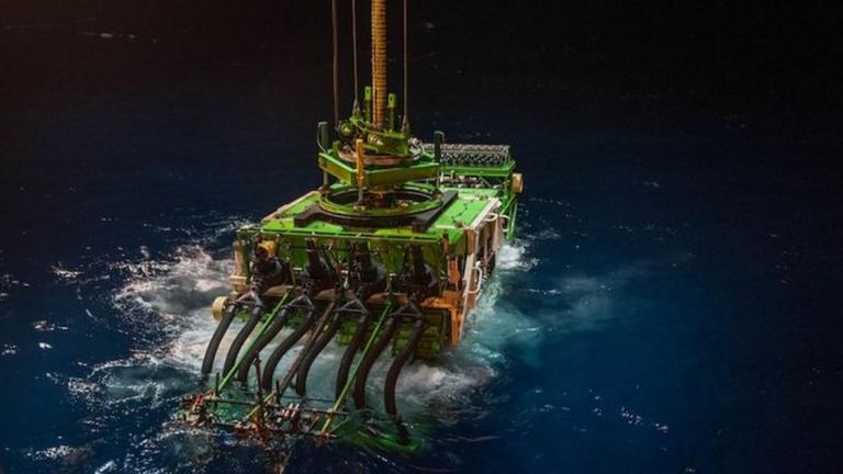 Patania II é um dos protótipos em desenvolvimento para mineração em alto mar